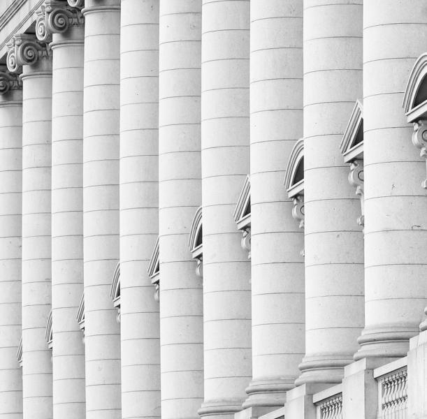 US Custom House Baltimore Beaux Arts architecture columns black white building Maryland abstract angles angular diagonal