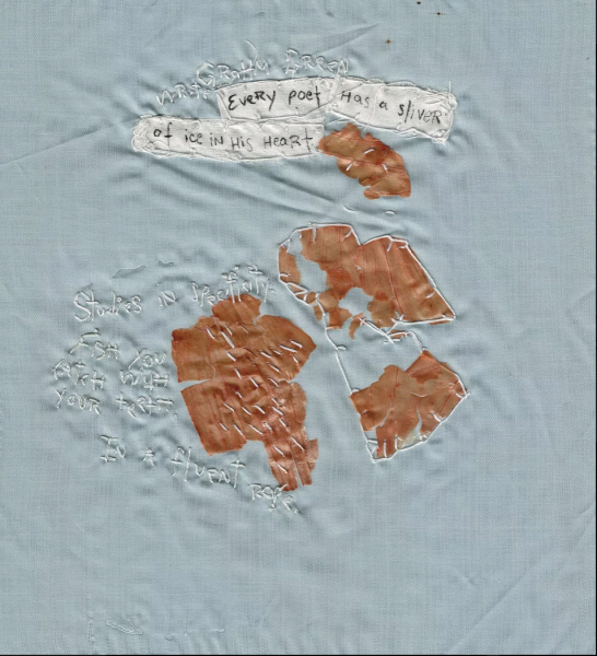 Embroidery with onion skins and words. Studies in specificity...