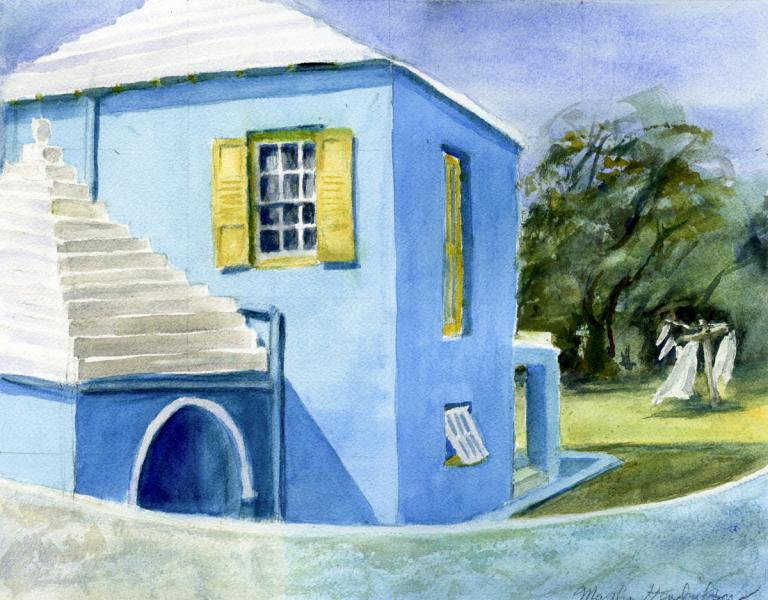 Painting of Blue House