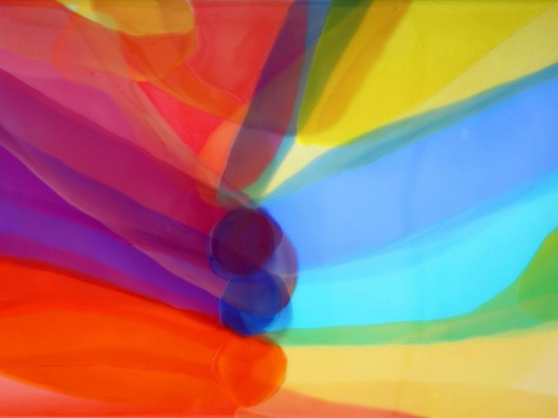 Colorful painting by Farida Hughes