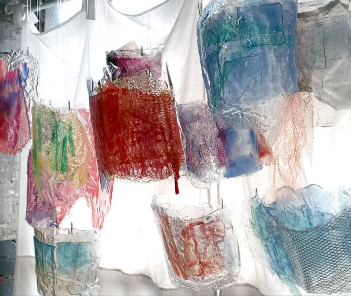 hanging sculpture Farida Hughes