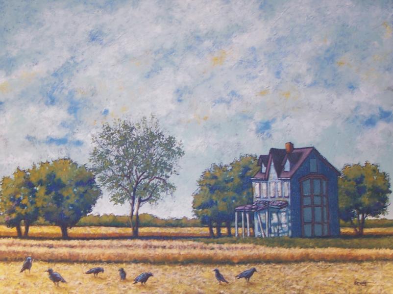 landscape, acrylic