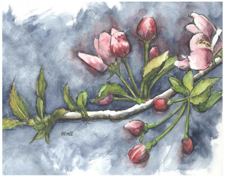 water color, nature