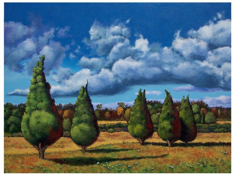Renee Henderson,landscape, acrylic, painting