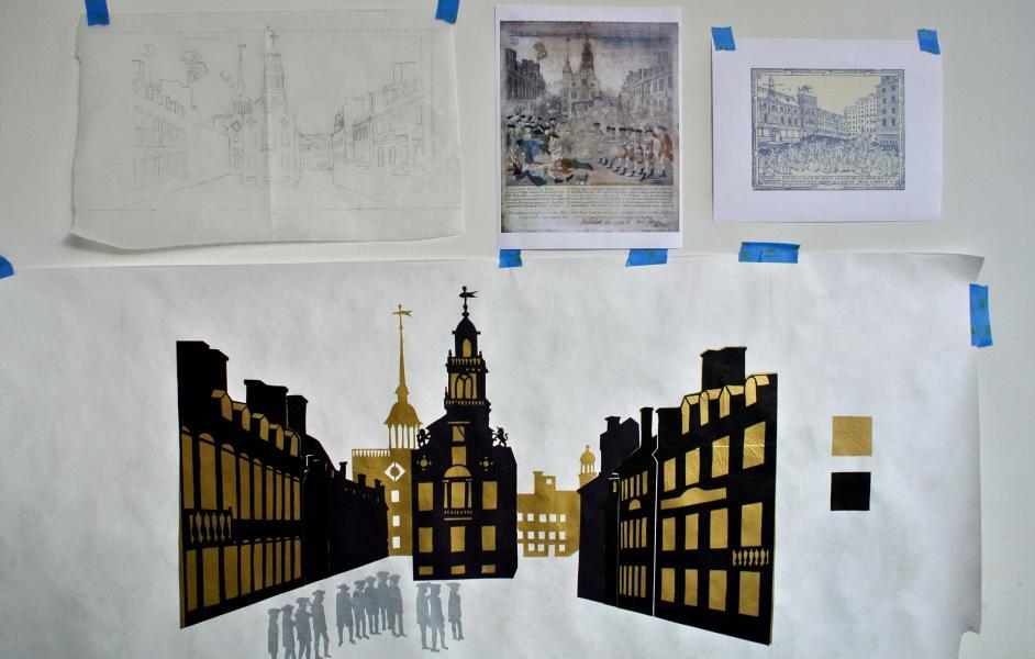 Sample Scene of Boston for the museum