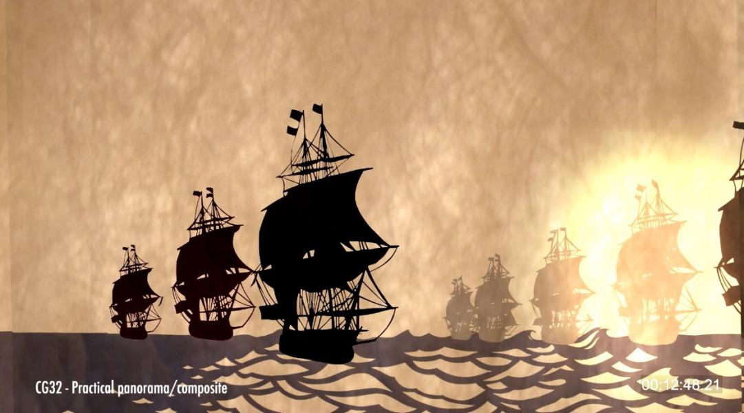 Sea battle at Yorktown