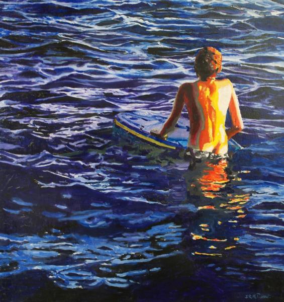Beach scene, Santa Cruz, CA. shade, adolescent, Young surfer, the next wave