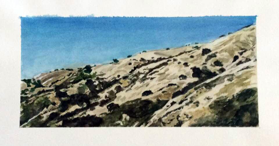 Watercolor of central California