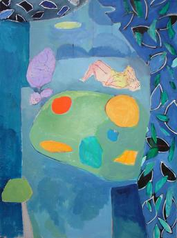 Montage, Abstract painting, Acrylic painting organic shapes, interior