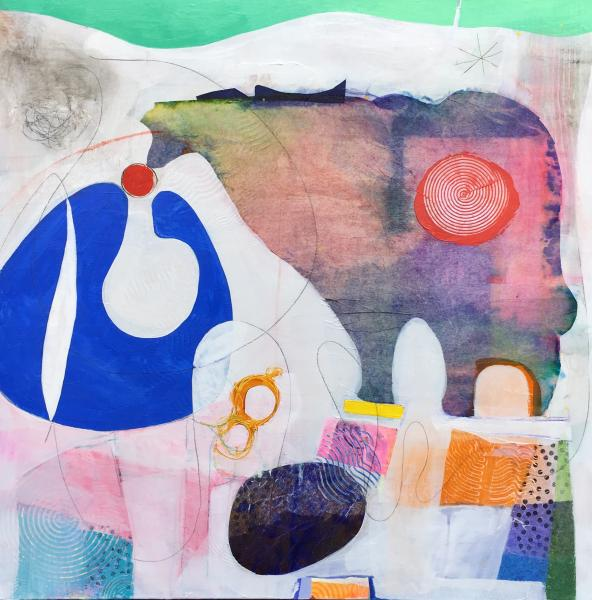 Montage, Abstract painting, Acrylic painting organic shapes, beast