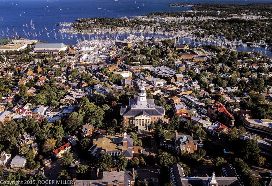 AERIAL OF ANNAPOLIS LOOKING SOUTH