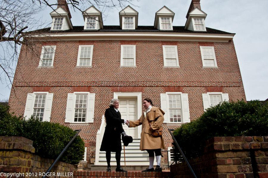 PRESIDENT JEFFERSON AND GOVERNOR PACA AT PACA HOUSE