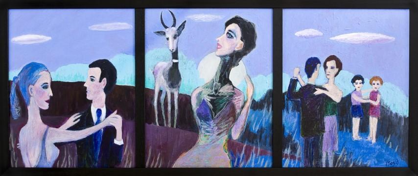 Hal Boyd, Gazelle (Triptych)