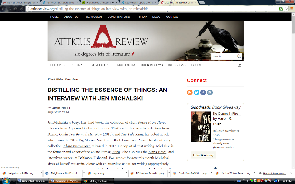 Atticus Review Interview, From Here