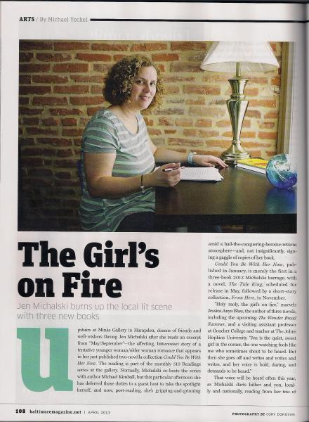 """The Girl's on Fire,"" Baltimore Magazine."
