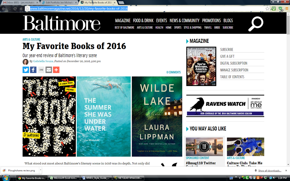Favorite Books of 2016, Baltimore Magazine