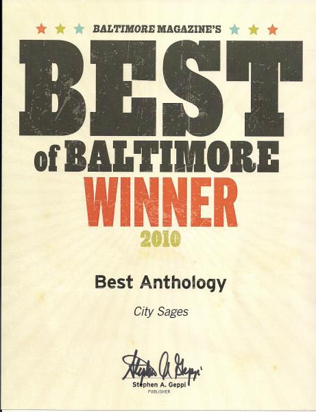 Best Anthology, City Sages, Baltimore Magazine, 2010
