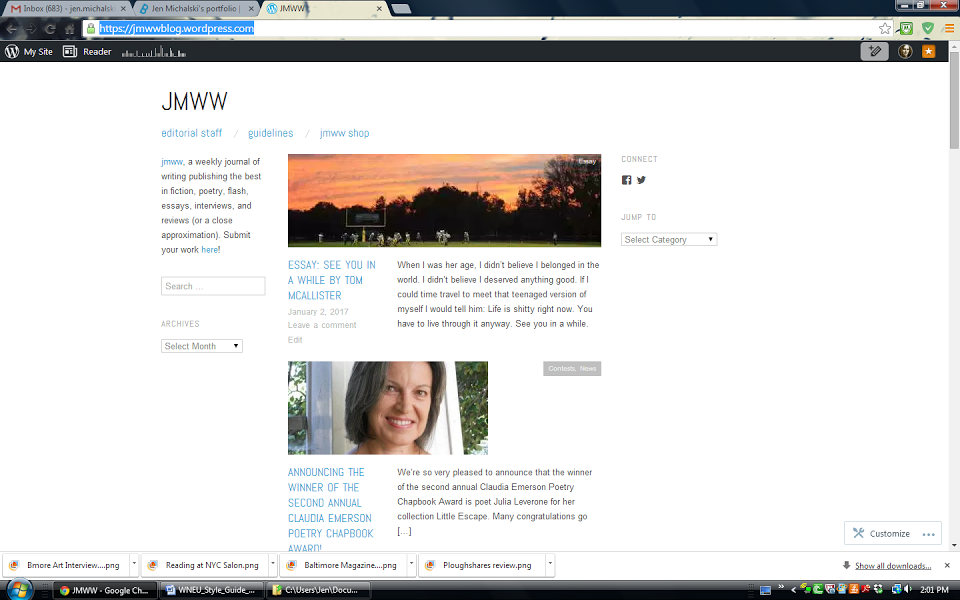 Homepage for jmww