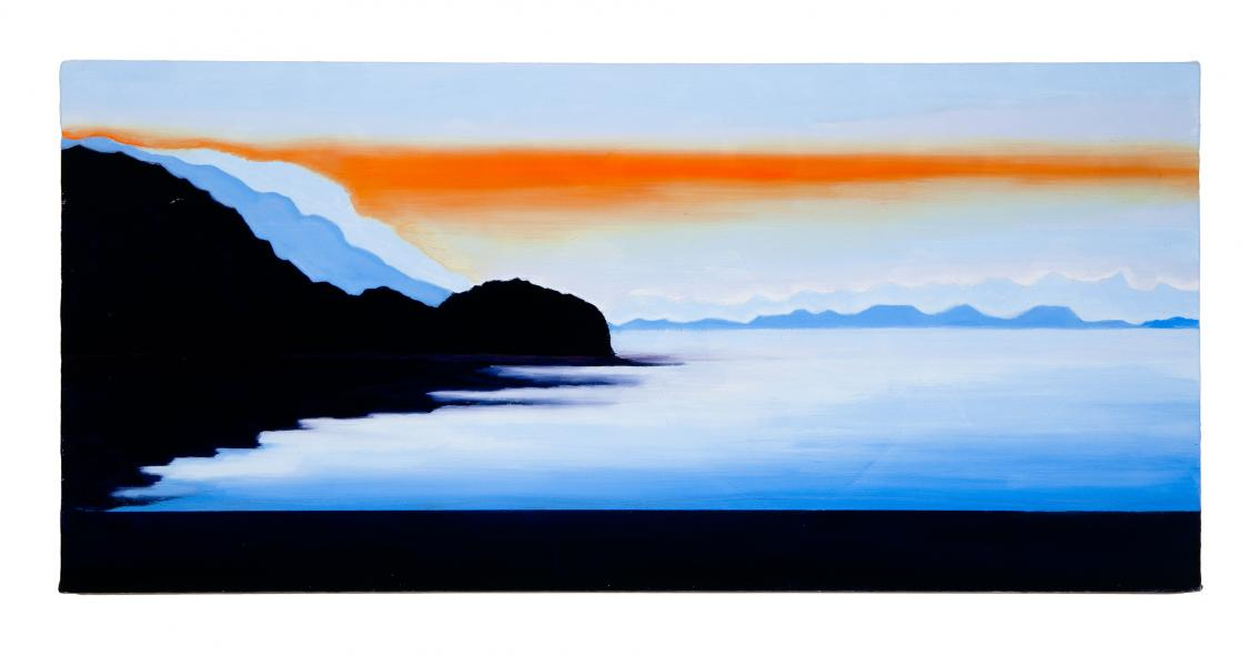 Antelope Island UT, 2019, oil on canvas, 24x36