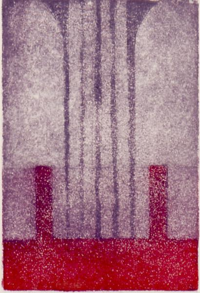 Separations II, 1986, etching on paper, 12×9 (sold)