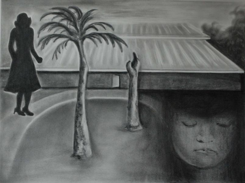 Weighed Down By Memories, 2008, graphite on paper, 22x30 (sold)