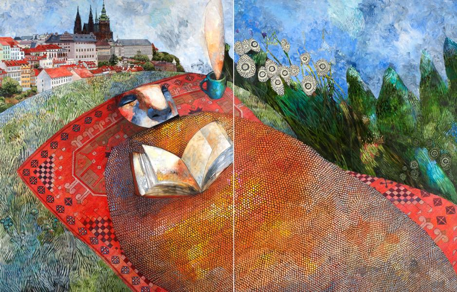 Afternoon (diptych)