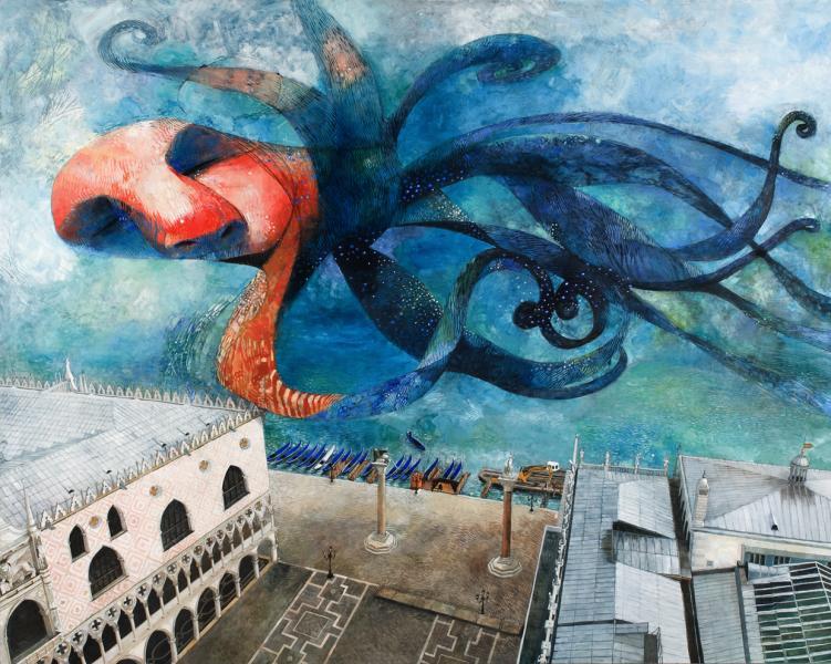 Flying Dream Over Venice