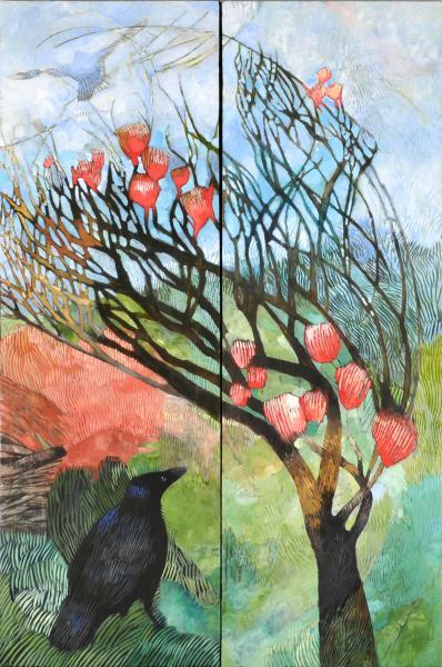 Three Blackbirds (diptych)
