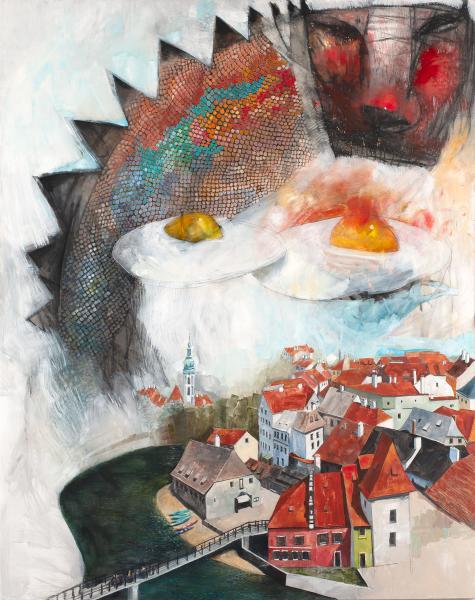 Flying Dream Over Český Krumlov