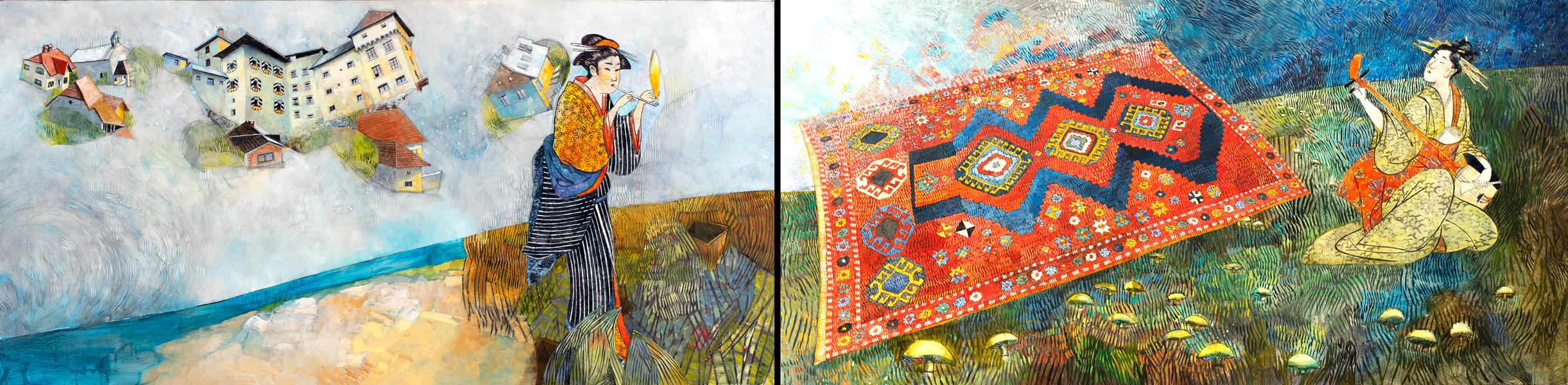 Two Moments of Solitude (diptych)