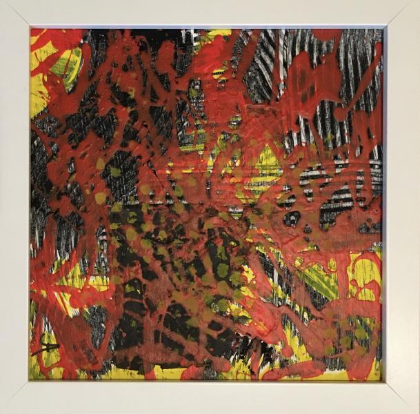 explore, red, black, rake, paint, surface