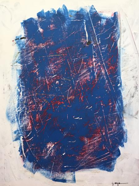 transform, expressionistic, red, white, blue