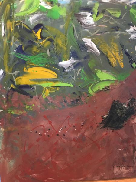 earth, soil, corn, expressionistic, underground,