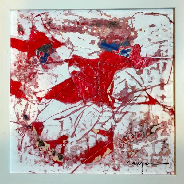 lake, red, surface abrasion, abrasion, environment, environmental, paint, abstract, abstract expressionism, neo