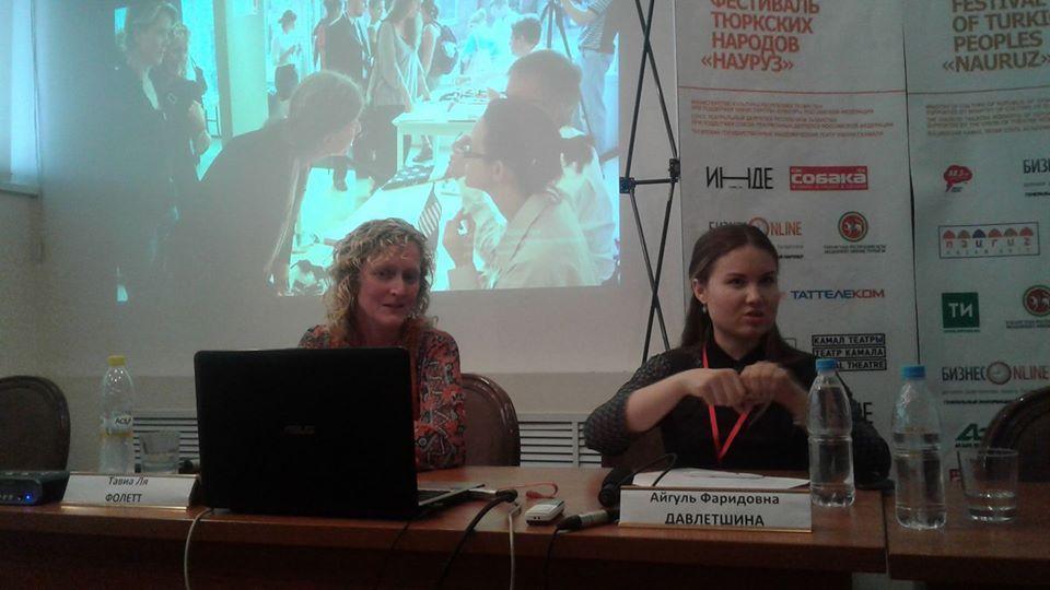Presenting the SOP work in Kazan, RU