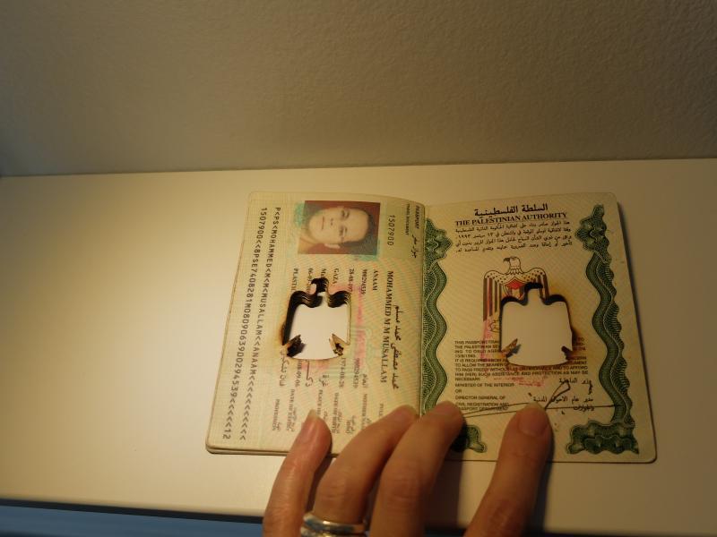 Artists installing- Palestinian Passport