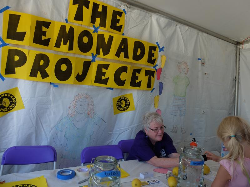 The Lemonade Project at The Three Rivers Arts Festival, SPROUT FUND tent, Pittsburgh, PA