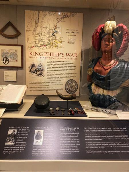 New Bedford's Whaling Museum, installation on King Philip's War