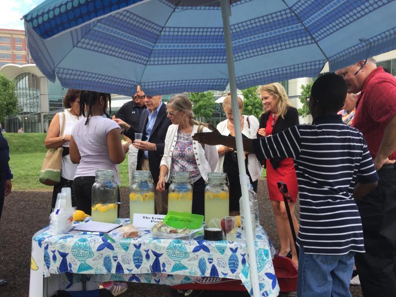 Towson University college Deans buy lemonade!