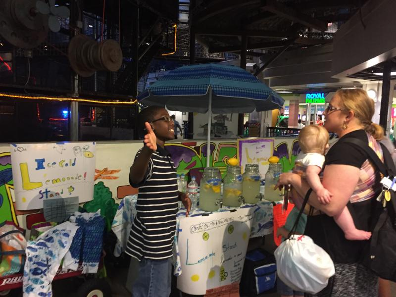 The Lemonade project at Port Discovery, the children's museum