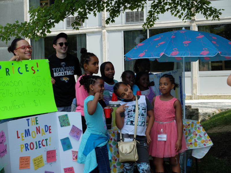 The Refugee Youth Project take the Lemonade Project to Towson University