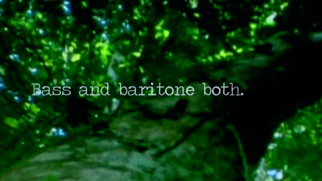 Bass and Baritone; The journal writ large
