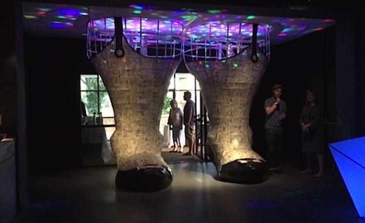 sculpture, light, mirror, sound