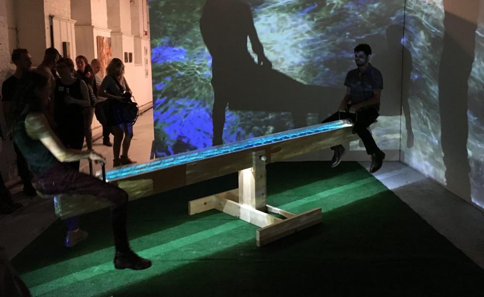 installation, sculpture, water, light, sound, sustainalbility