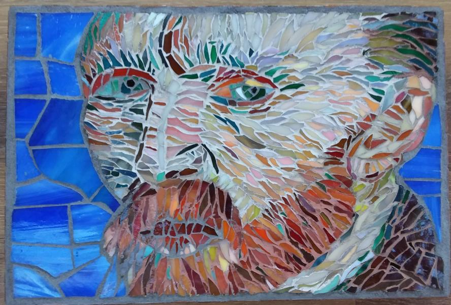 Vincent, Van Gogh, painterly, mosaic, stained glass