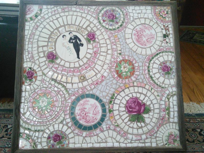 mosaic, pique assiette, wedding