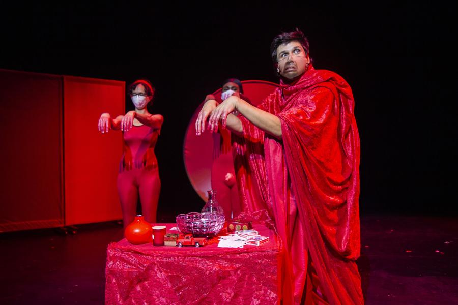 The final offering of the red juices to the shame alter. The Shame wizard is conducting the ritual for all to partake and was away their shame.