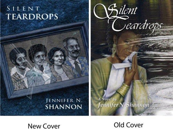 two book covers, one with a photograph broken and the other with a woman wiping tears from her face