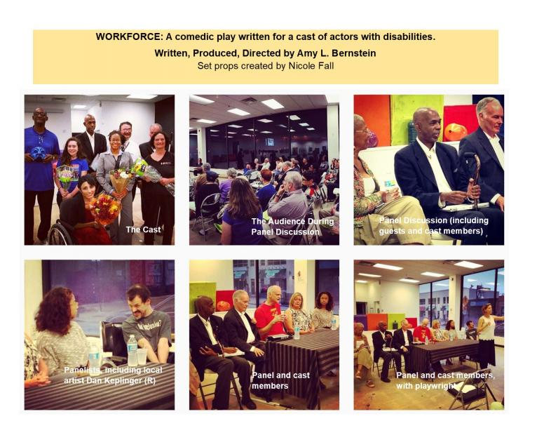 Six images of Workforce cast and panelists