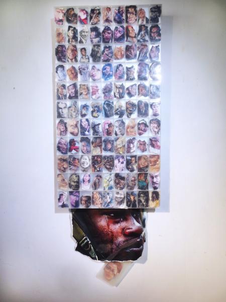 sculpture, portraits, political art, paper, mixed media